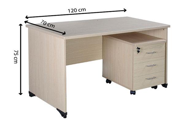 Kích thước thiết kế bàn làm việc 1m2 at120