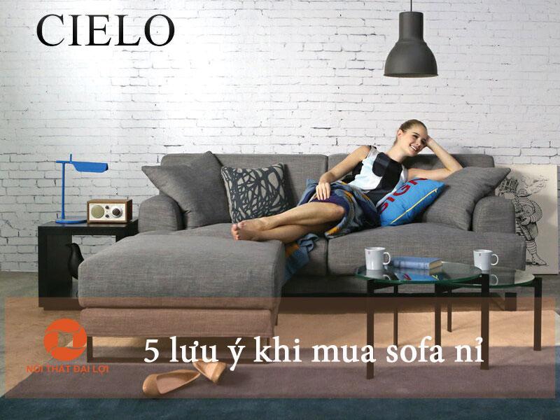 5 lưu ý khi mua sofa nỉ
