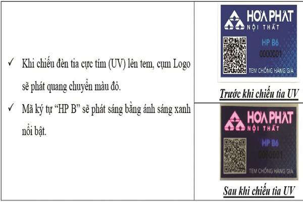 Hãy dùng điện thoại kiểm tra tem mác sản phẩm của Hòa Phát để chắc chắn sản phẩm chính hãng