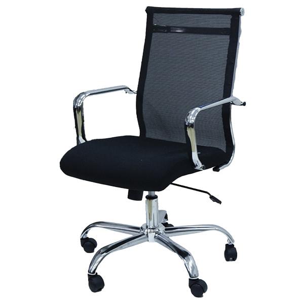 Mẫu ghế số 2 ghế giám đốc lưới GL207 khung Inox