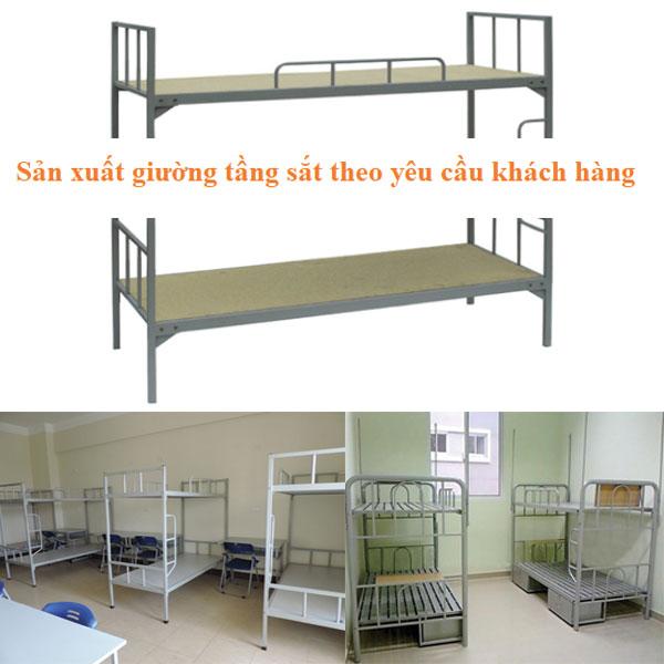 Sản xuất giường tầng sắt giá rẻ tại Hà Nội