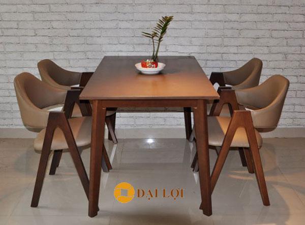 bộ bàn ghế ăn gỗ xuất khẩu Emma