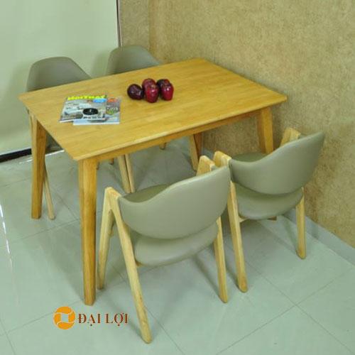 Bộ bàn ghế ăn hiện đại Emma màu vàng