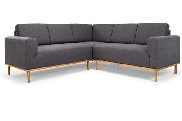 Thiết kế Sofa nỉ phòng khách Badova D100 - Màu nâu