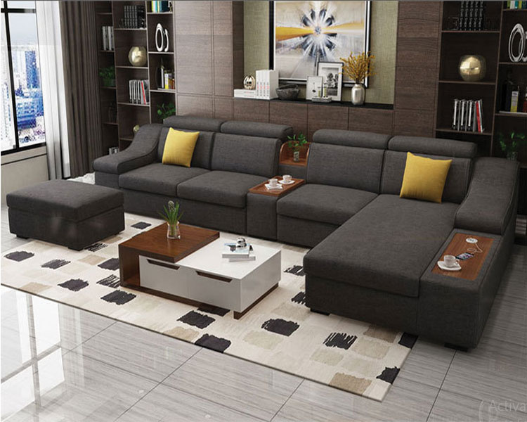 Sofa nỉ DL-02SF màu lông chuột