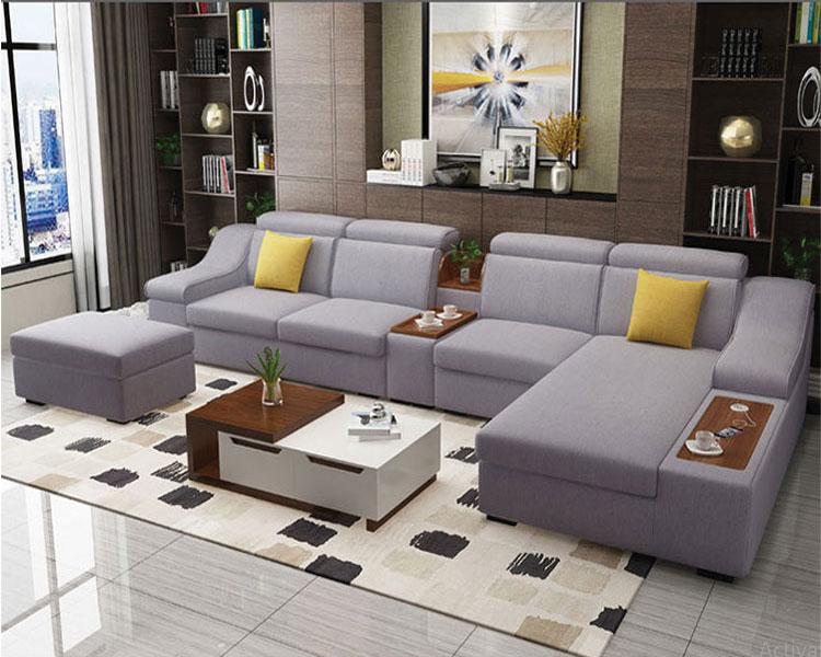 Sofa nỉ DL-02SF màu ghi bạc
