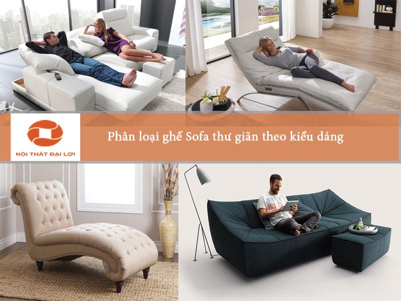 Phân loại sofa theo kiểu dáng