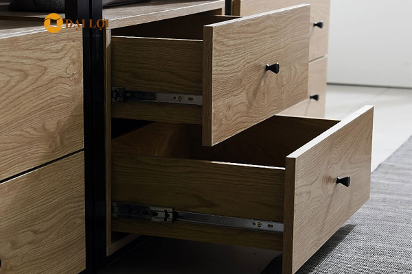 Chất liệu gỗ thiết kế ngăn tủ nhỏ đựng quần áo
