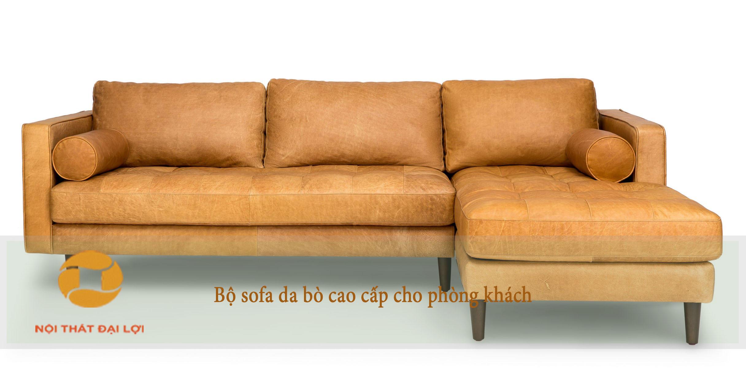 Mẫu 5 - Sofa da bò phòng khách
