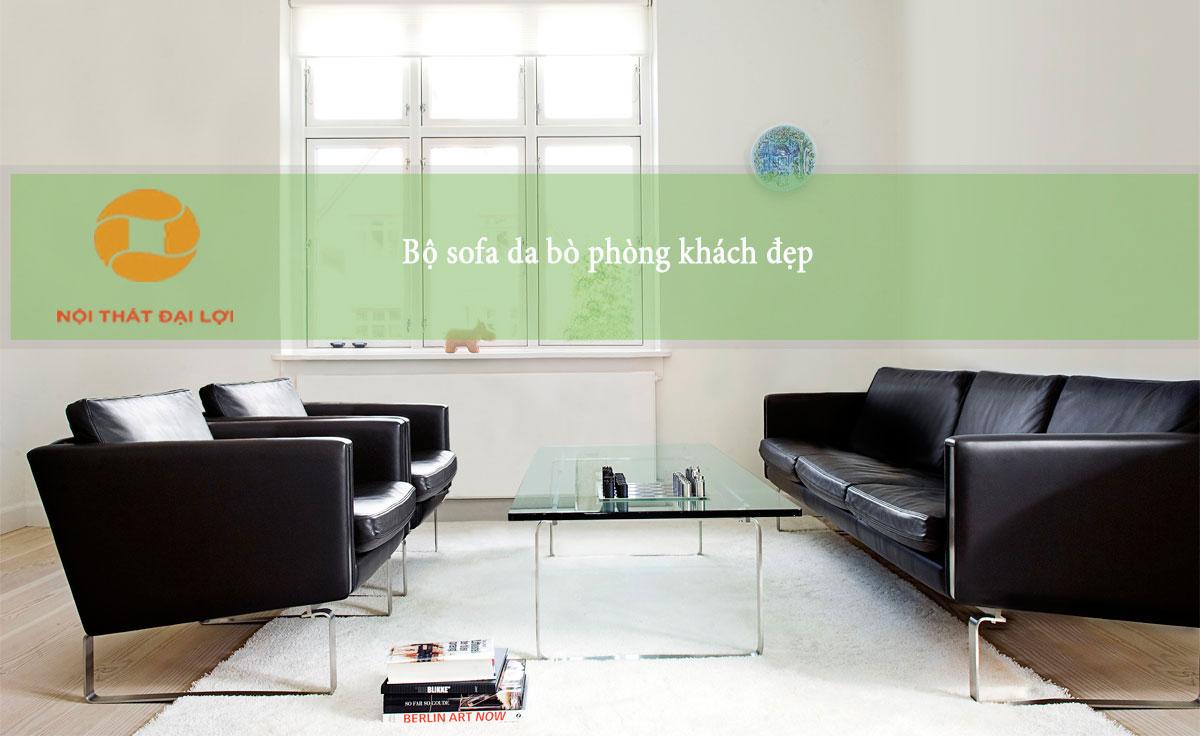 Mẫu 2 - Bộ sofa tiếp khách phòng khách hoặc văn phòng công ty