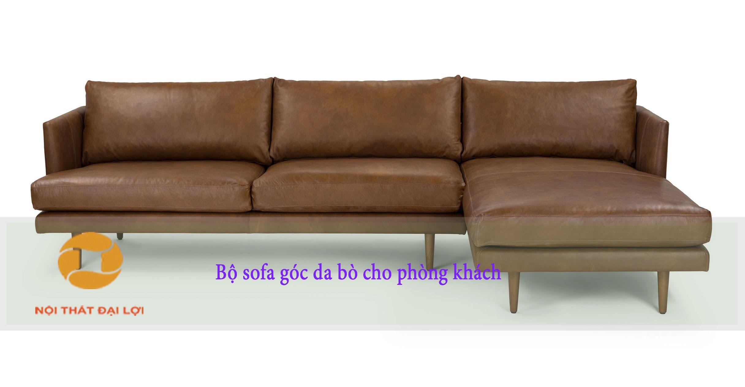 Mẫu 10 - Sofa góc chữ L phòng khách