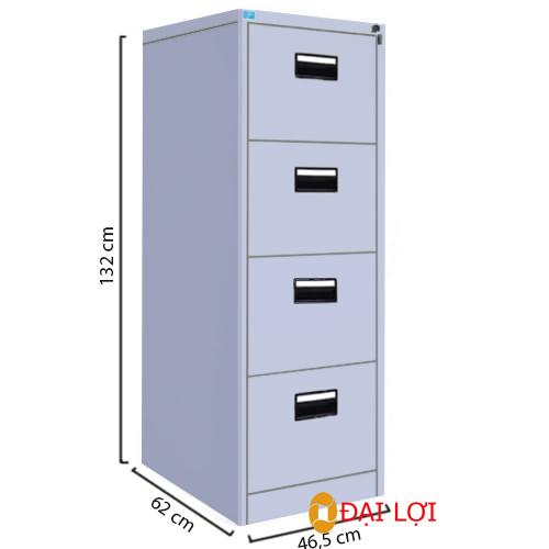 Tủ tài liệu sắt 4 tầng 4 ngăn kéo TU4F