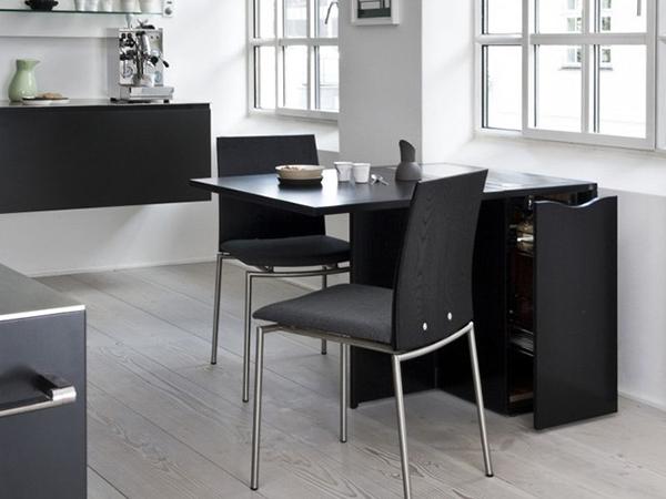 bàn ăn gấp gọn kết hợp với ghế làm việc