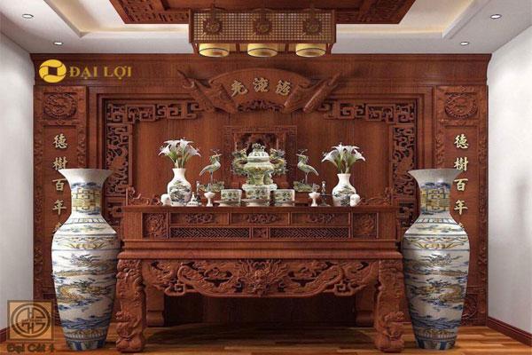 Bộ đồ thờ bằng gỗ gụ