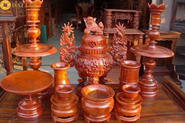 Bộ Đồ thờ bằng gỗ mít