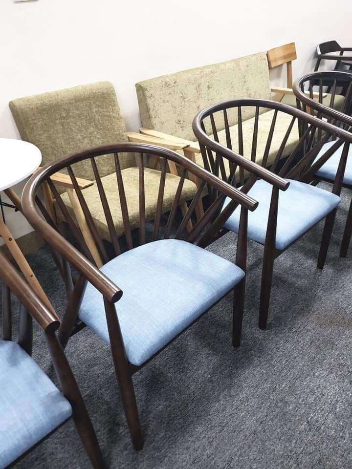 Mẫu 9 ghế ôm cafe bọc đệm