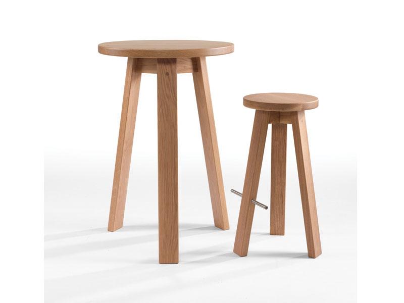 Mẫu 1: Ghế cafe đẩu bằng gỗ cao su 3 chân