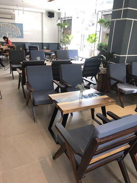 Mẫu 7 Ghế Relax Cafe sofa bọc nỉ