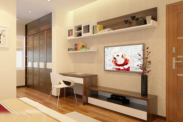 Kệ tivi kết hợp bàn làm việc phòng ngủ