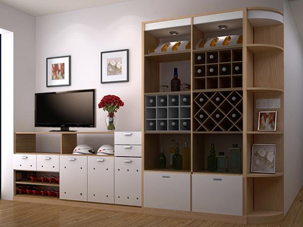 Kệ tivi kết hợp tủ rượu và tủ giày