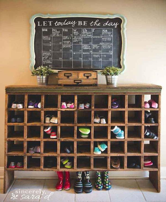 tủ giày dép thông minh bằng gỗ