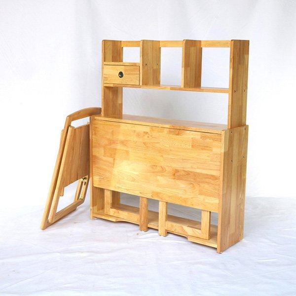 Bàn làm việc gấp gọn gỗ cao su tự nhiên