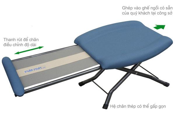 Ghế ngủ thông minh có khả năng xếp gọn điều chỉnh độ dài