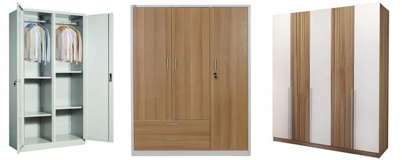 Tủ quần áo hòa phát sắt và tủ quần áo gỗ công nghiệp