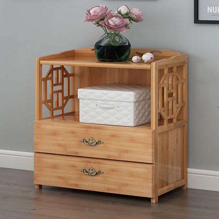 Tủ sách gỗ tự nhiên đẹp, thiết kế bằng gỗ cao su đẹp