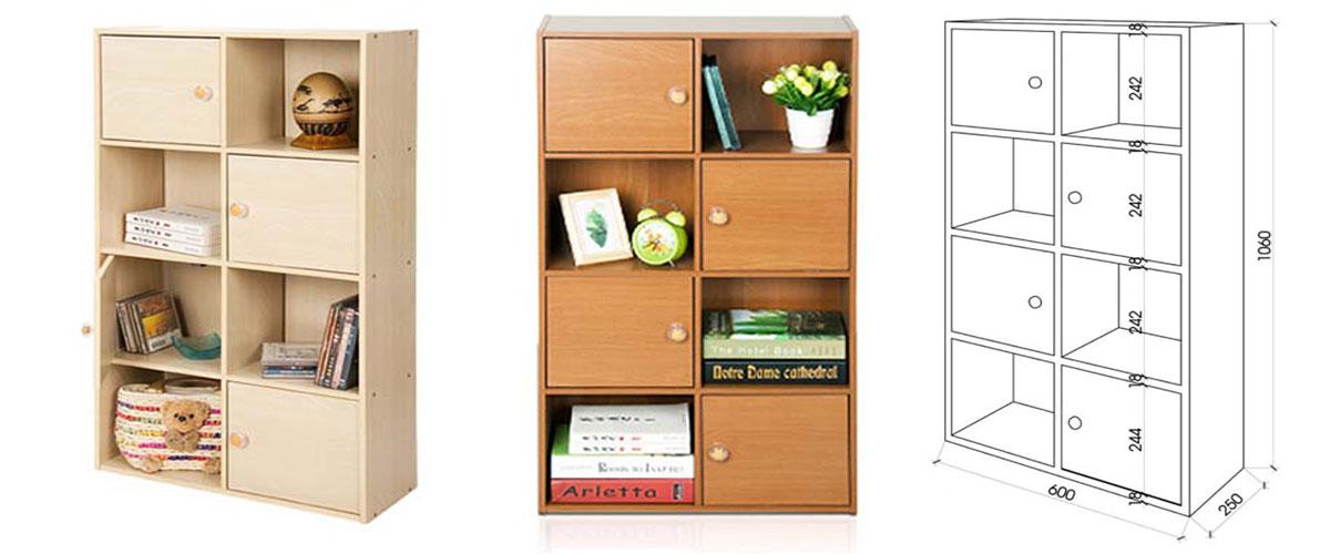Tủ sách gỗ mini