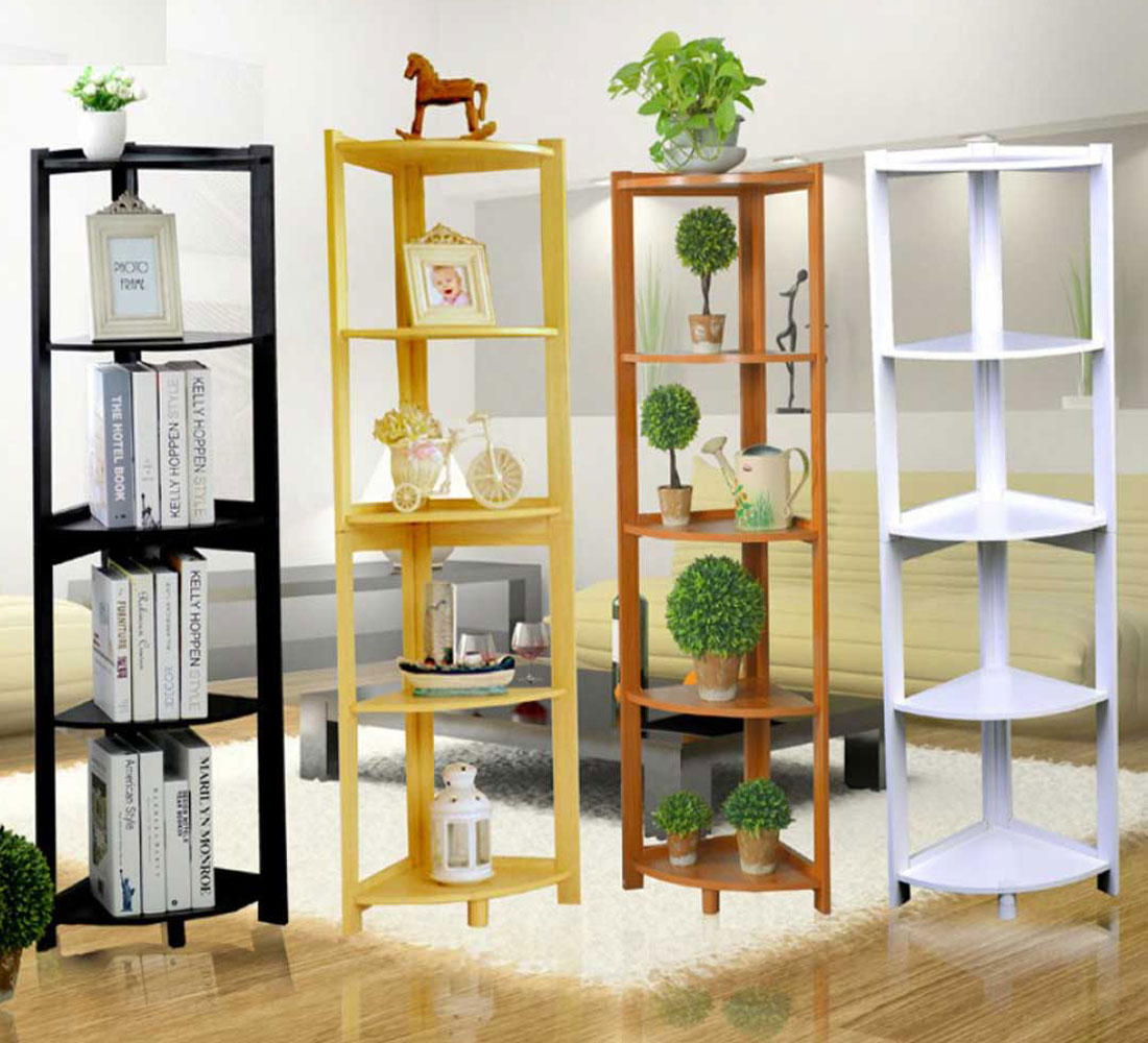 Kệ sách gỗ tự nhiên 5 tầng, sử dụng chất liệu gỗ cao su tự nhiên