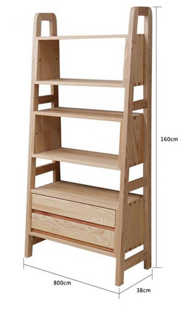 Kích thước kệ gỗ đẹp hình thang