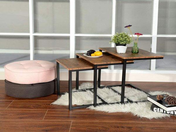 Bàn sofa gỗ mặt vuông