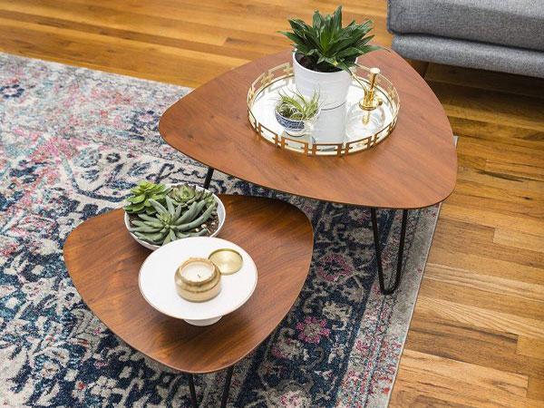 mẫu bàn Sofa đẹp gỗ hình đá quý