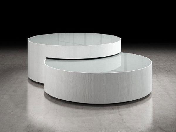 Bàn sofa gỗ 2 hình tròn