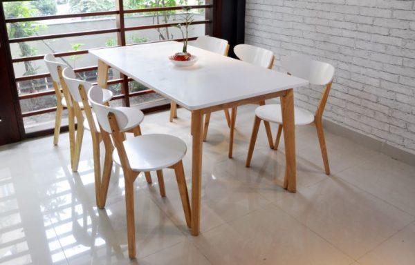 bộ bàn ăn cao cấp Moontrap 6 ghế