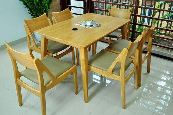 Bộ bàn ghế ăn cao cấp Osaka6-Nature 1