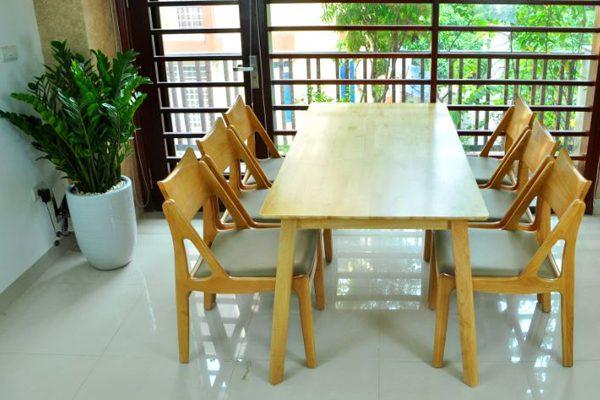 Bộ bàn ghế ăn cao cấp Osaka6-Brown