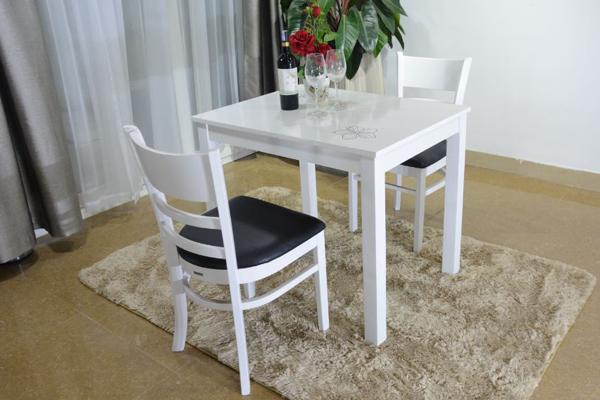 Bộ bàn ghế ăn 2 người màu trắng