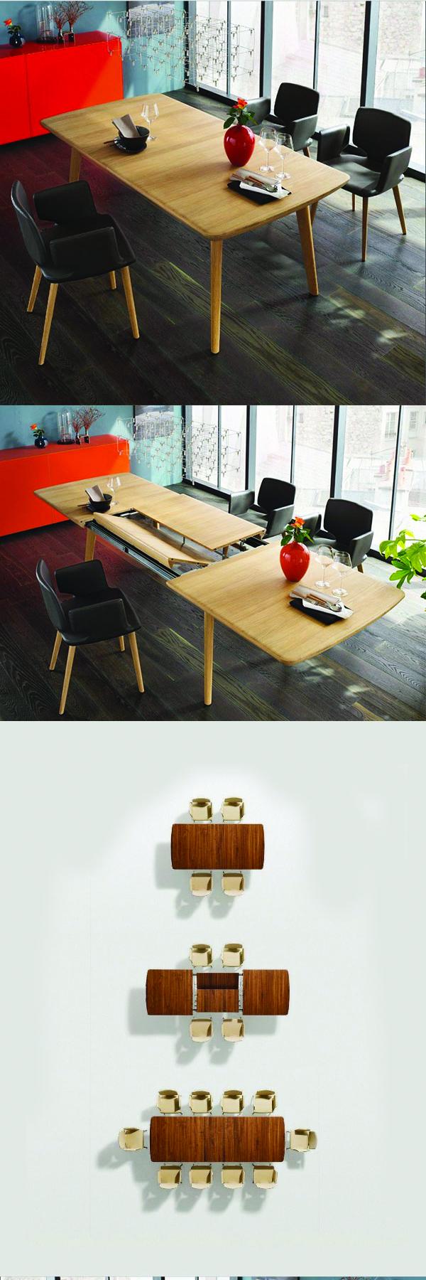 Mẫu bàn ăn thông minh nhà thiết kế Team7