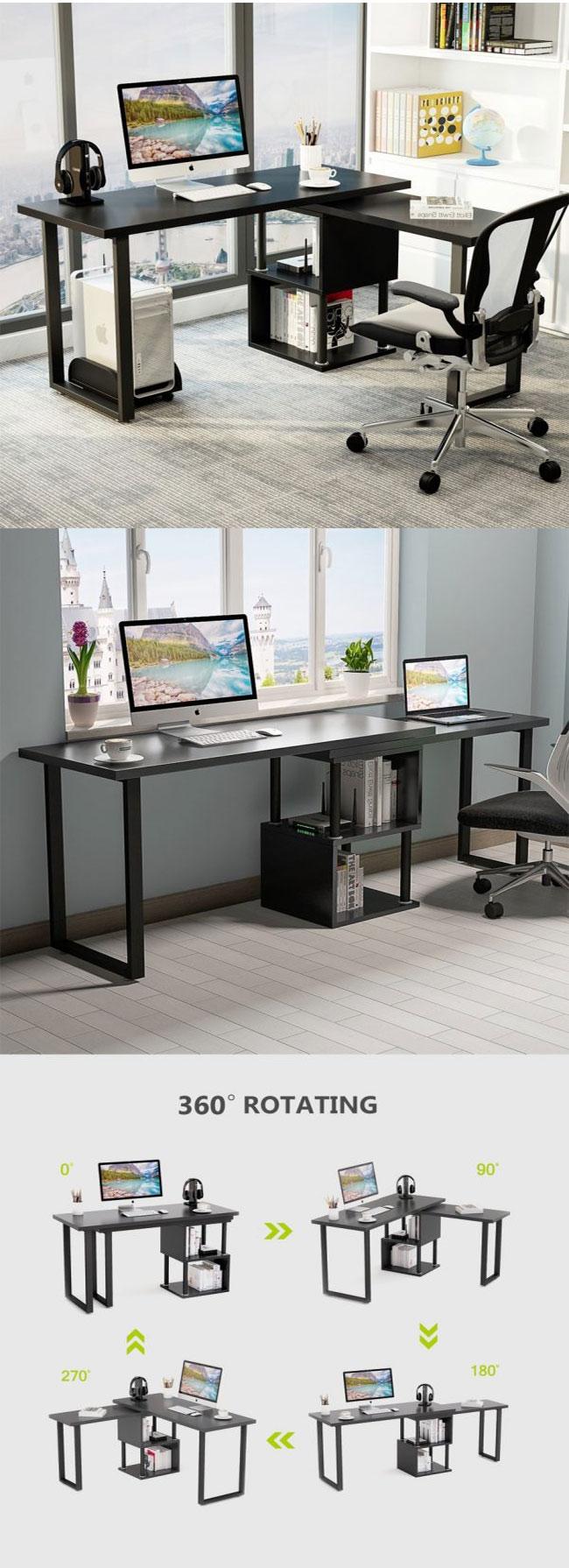 bàn làm việc hiên đại chữ xoay 360 độ