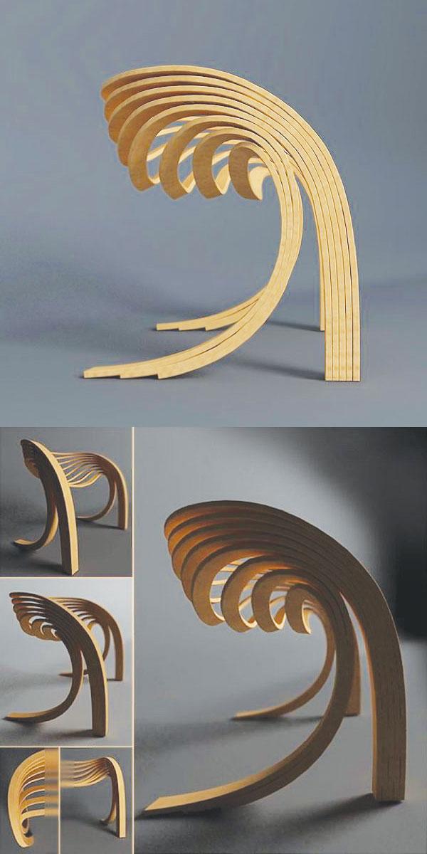 Ghế gỗ uốn cong Evolve Chair