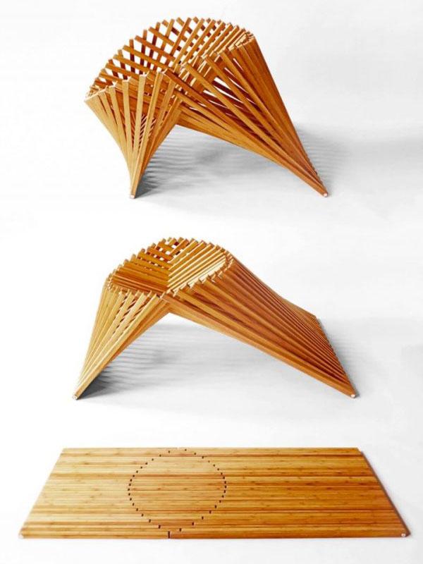 Ghế gỗ điêu khắc thông minh