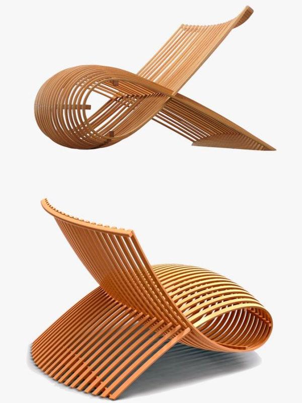 Ghế gỗ sồi cong đôiGhế gỗ sồi cong đôi