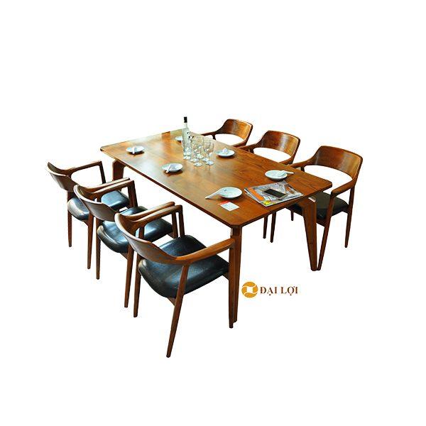 bàn ghế ăn 6 ghế gỗ sồi dragon 103