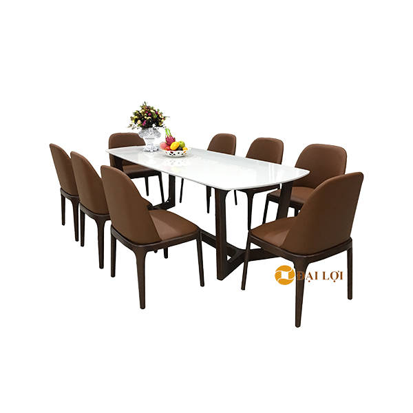 Bàn ăn 8 ghế hiện đại DRAGON 111