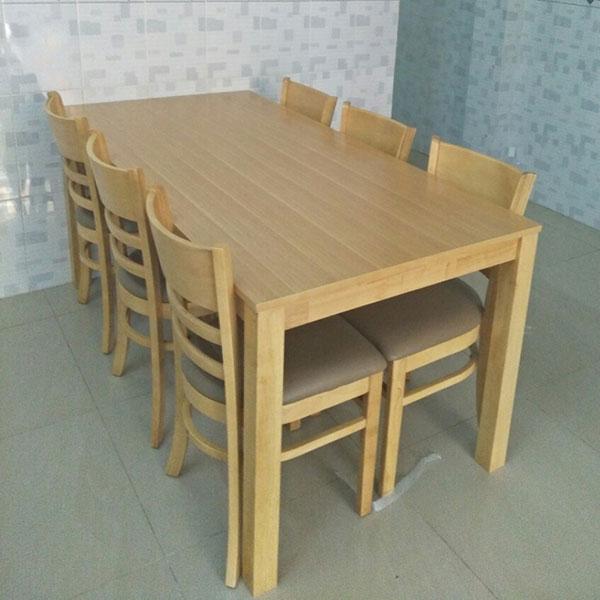 Ảnh chụp thực tế Bộ bàn ăn Cabin 6 ghế tại Nội Thất Đại Lợi