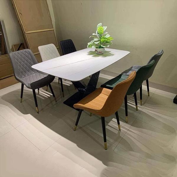 Bộ bàn ăn Mặt Đá 6 ghế Loft
