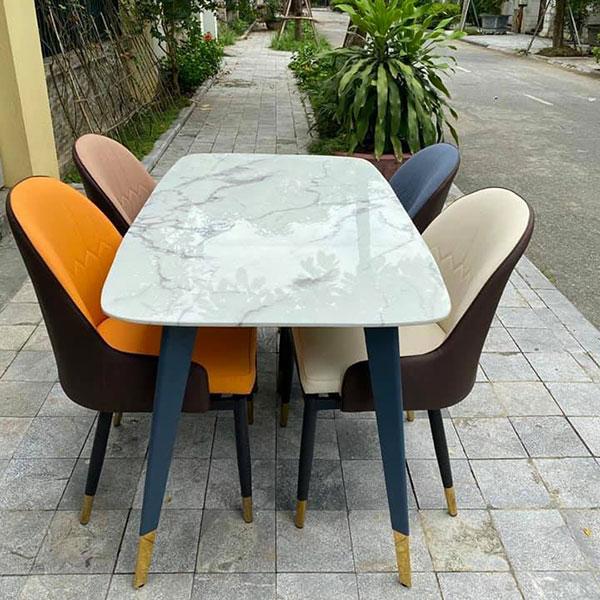 Bộ bàn ăn mặt đá 4 ghế Monet tại Nội Thất Đại Lợi