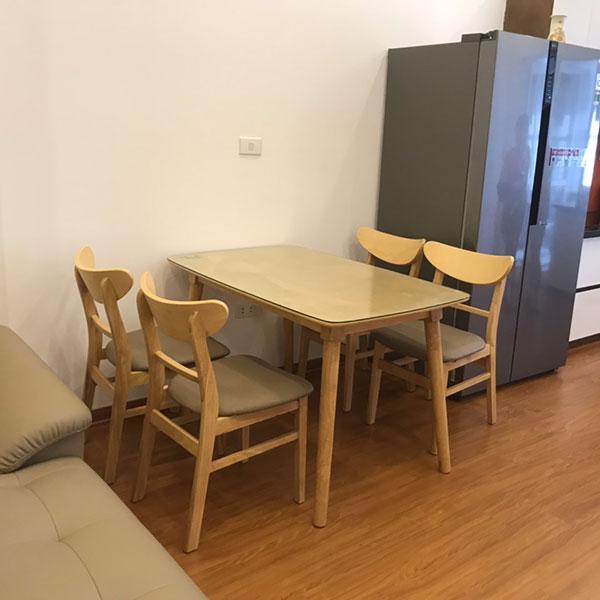 Bộ bàn ghế ăn Mango gỗ cao su